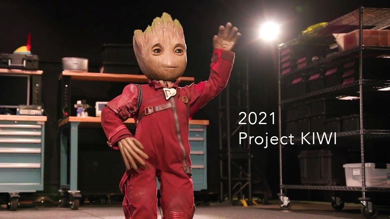 Proiectul KIWI de la Disney prinde viata si robotul Groot este viu si extrem de simpatic!